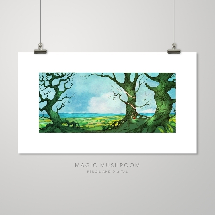 Magic Mushroom prints kwill.co - kwillustrator | ello