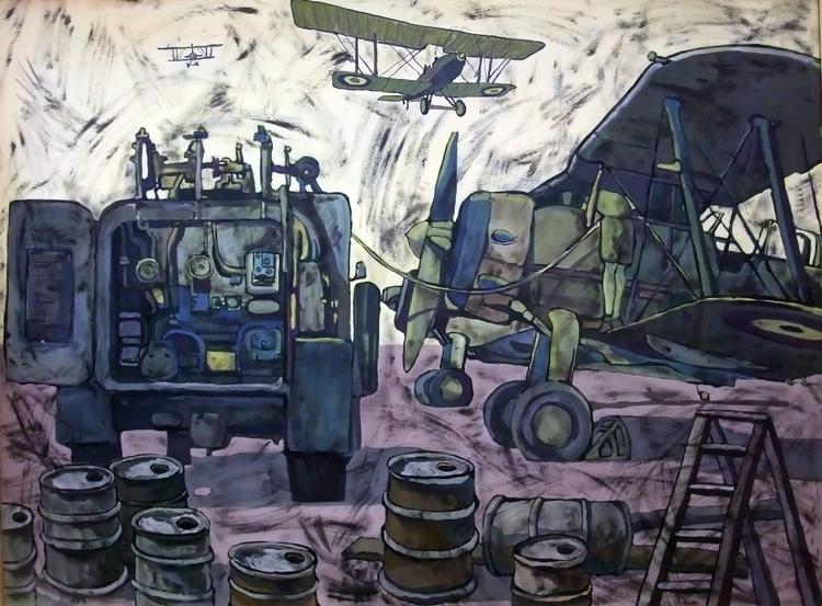 Algerian airfield hardboard, ac - dmitrynowhiskey   ello
