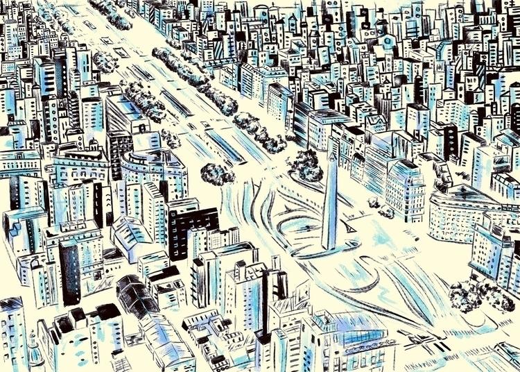 En La Ciudad De Furia - illustration - nfiasche | ello
