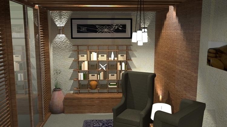 LIVING ROOM 2 - rendering, 3dinteriordesign - suraiyashahid | ello