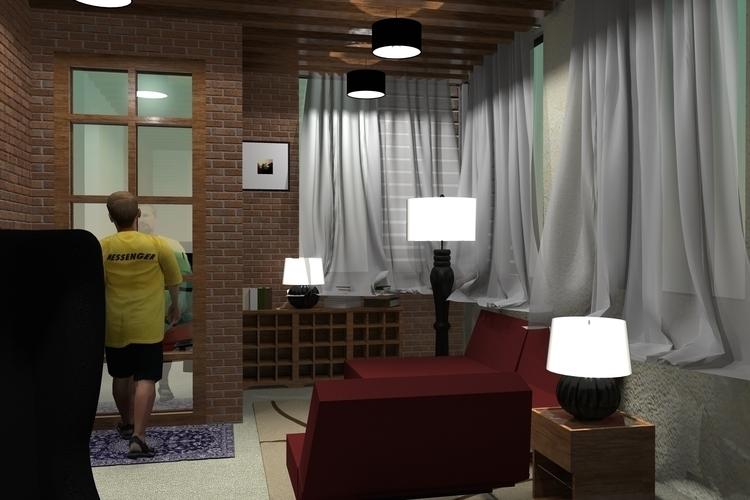 LIVING ROOM 1 - rendering, interiordesign - suraiyashahid | ello