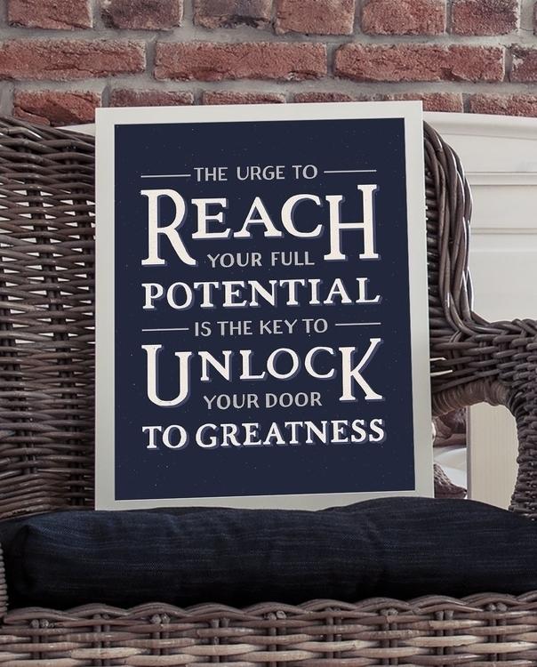 Reach full potential - handlettering - lettershoppe | ello