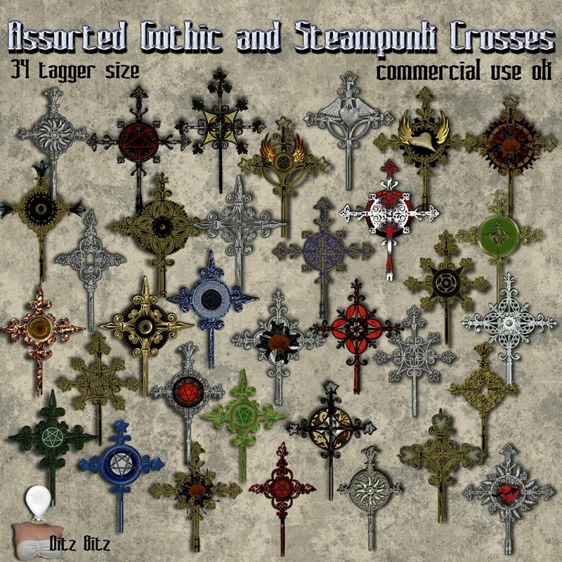 34 Gothic Steampunk Crosses tag - ditzbitz | ello