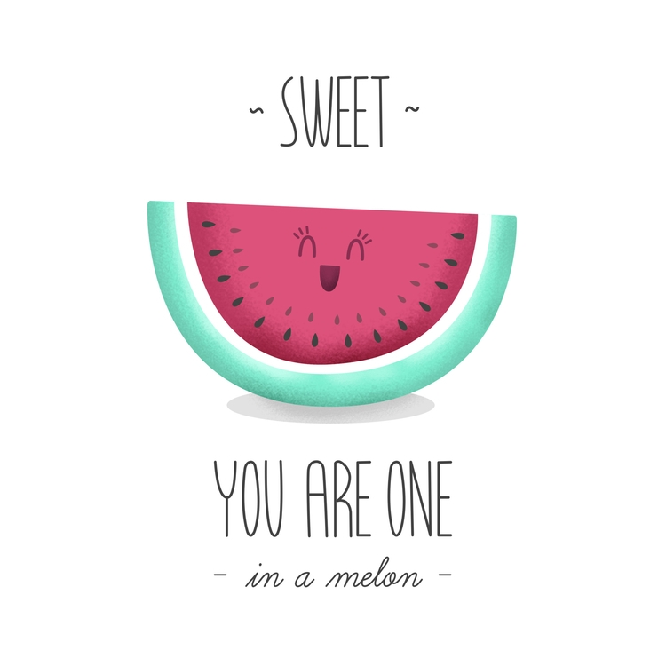 melon - illustration, design, typography - lucecitasroom | ello