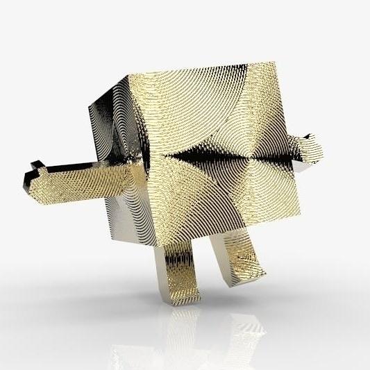 Gold Cube - characterdesign, cube - frankreyes | ello