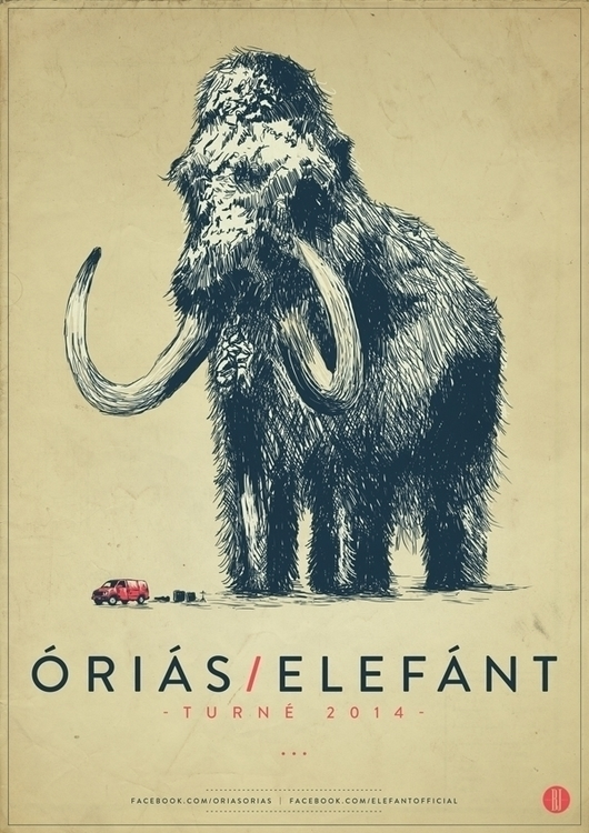orias/elefant tour | poster - gigposter - brown-1009 | ello