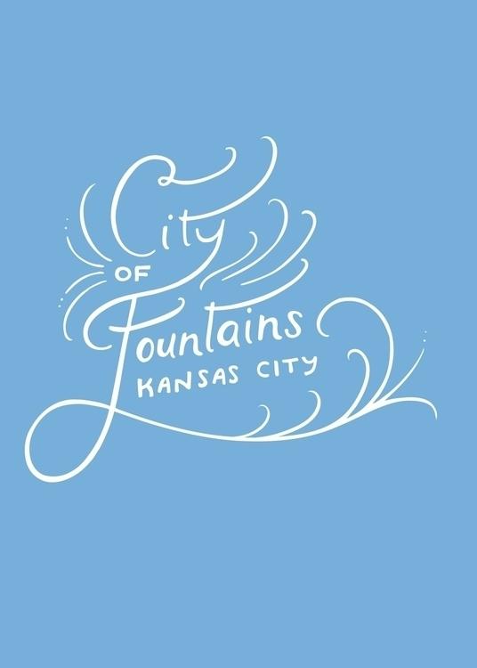 City Fountains // Handlettering - missjenbeck | ello