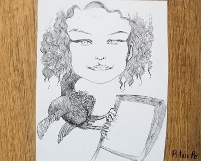 bird woman - birds, womanportrait - patchpo | ello