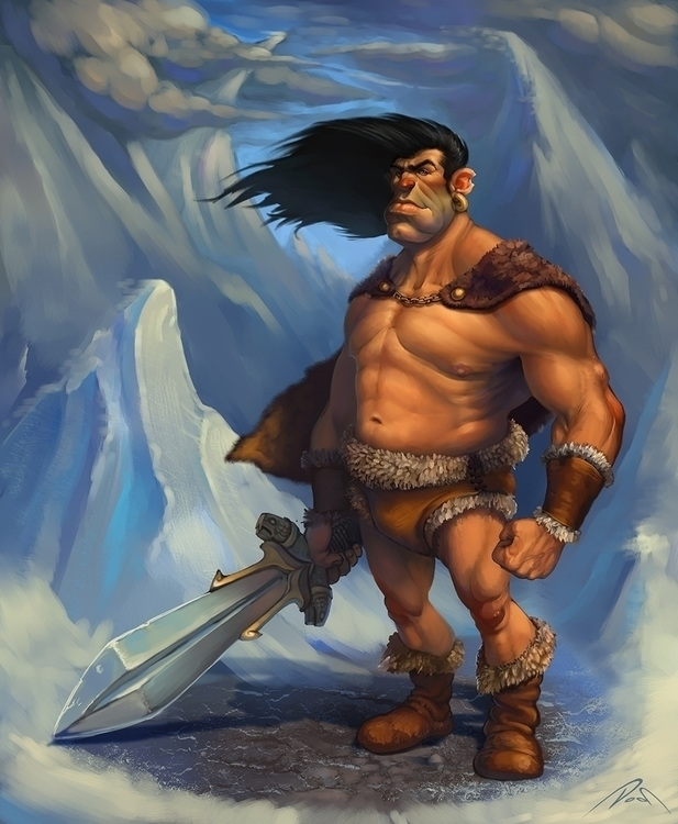 Conan  - illustration, conan, barbarian - dobsun | ello