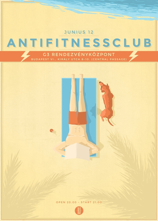 Anti Fitness Club | gig poster - brown-1009 | ello