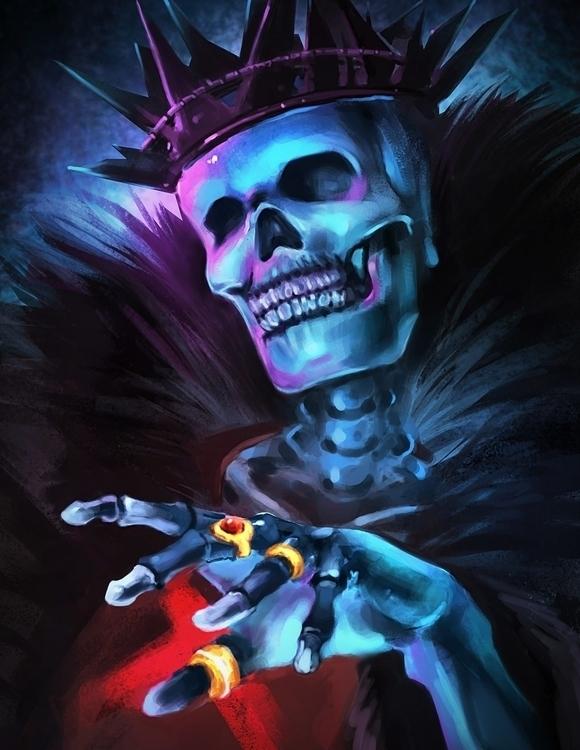 Skeleton King - skeleton, king, skull - juubus | ello