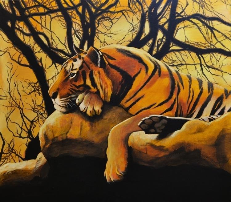 70x80 cm Acrylic canvas - painting - maryna-6139 | ello
