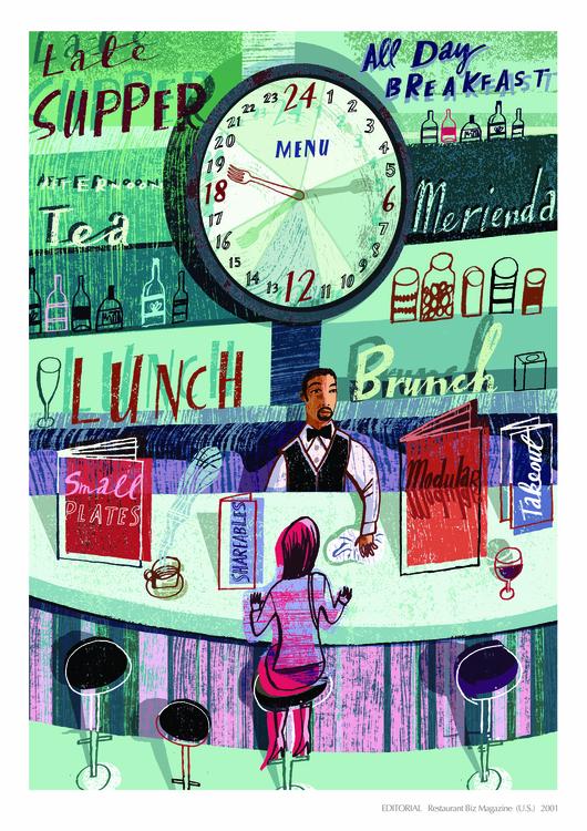 Commissioned Restaurant Biz - illustration - nowen-1067 | ello
