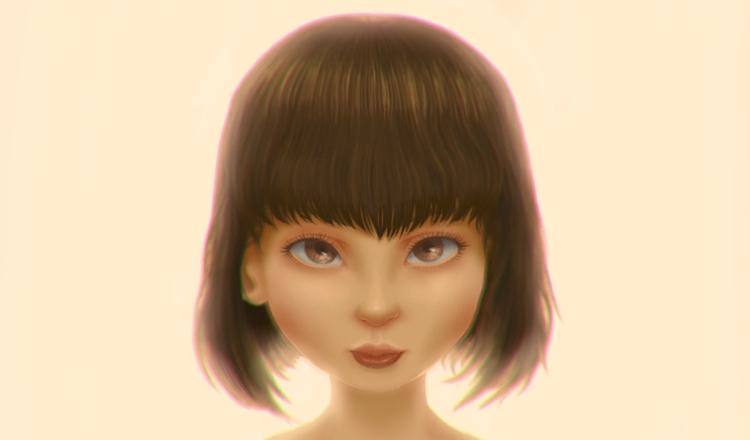 Female Portrait - digitalpainting - gemllave | ello