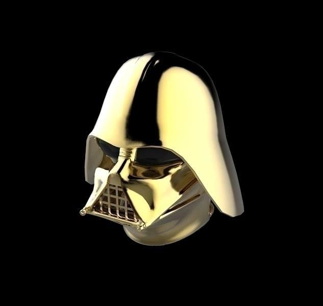 Gold DarthVader helmet - darthvader - frankreyes | ello