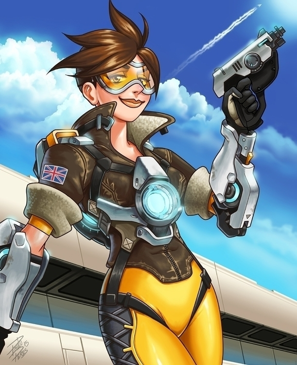 Tracer - Fanart - tracer, overwatch - pauloperes-1547 | ello