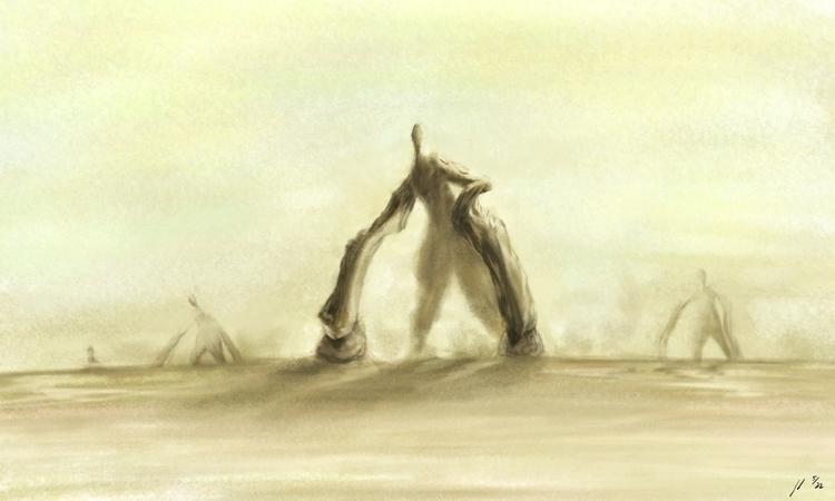 Roaming (Monsters - painting, illustration - jl_illustration | ello