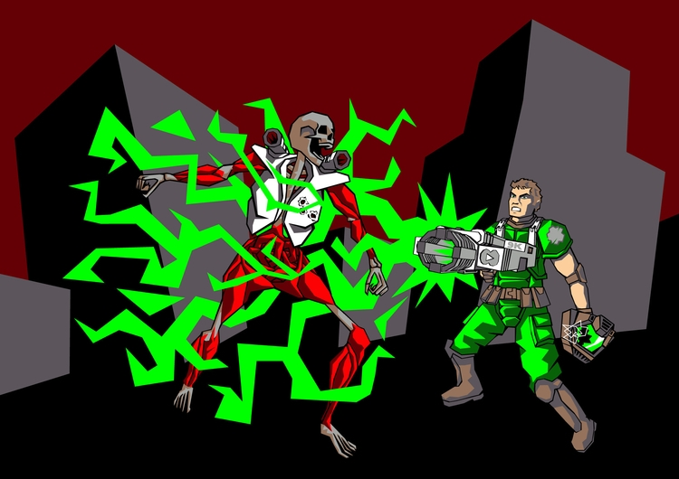 BFG 9000 - doom - spaceisgreen | ello
