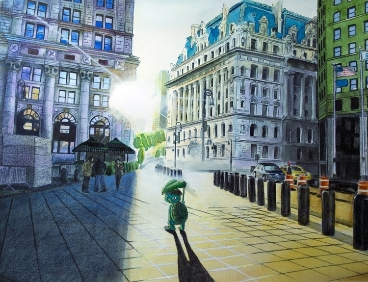 Kappa York wall st - illustration - eunice-3818 | ello