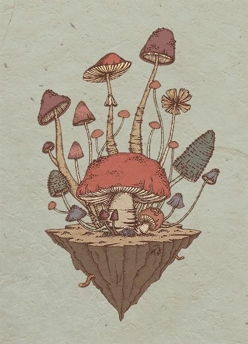 Floating Fungi Island - fungi, floatingisland - patoodle-1214 | ello
