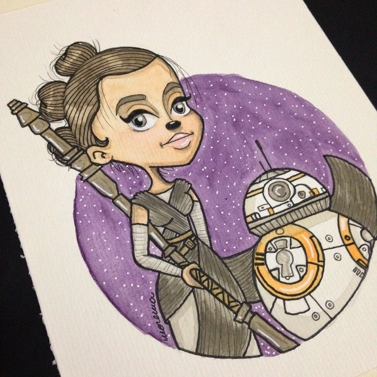 Starwars, Watercolor, Watercolour - lhaizamorena | ello