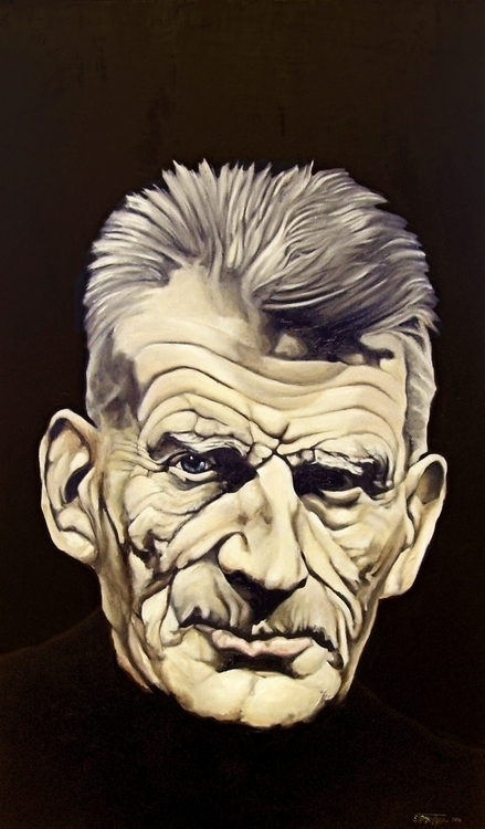 Samuel Beckett - painting, illustration - cjrosenthal | ello