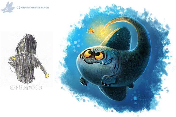 Daily Paint - 1102., MakeMyMonster - piperthibodeau | ello