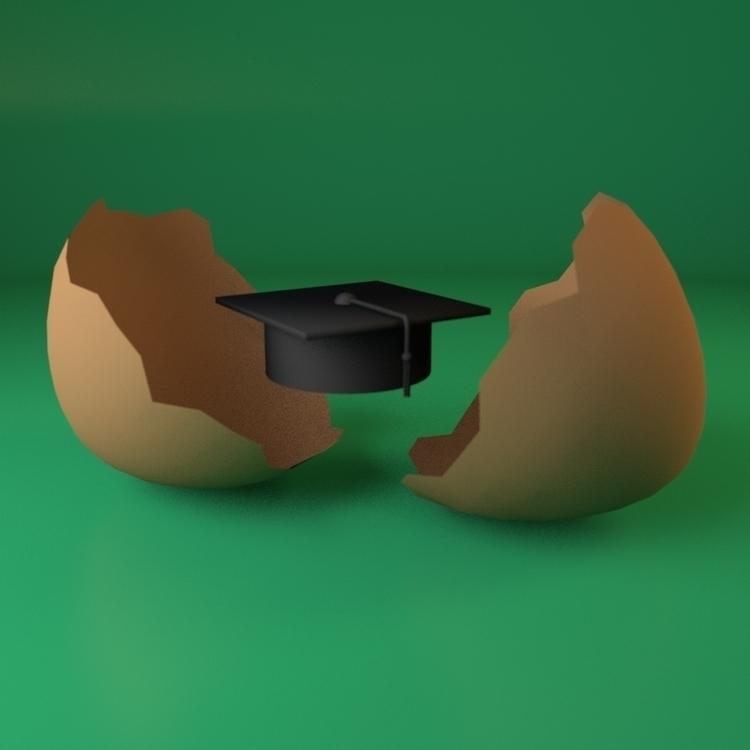 Freshgraduate - illustration, 3d - deepflare | ello