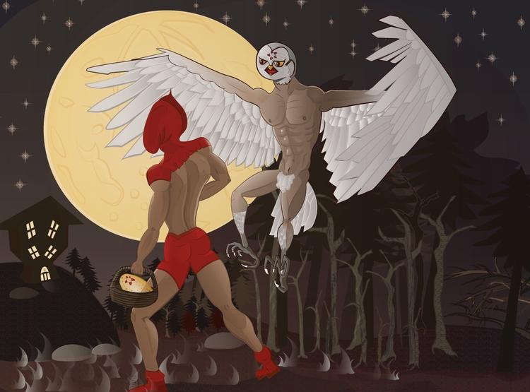 Red Hood - illustration, illustrator - saelioth   ello