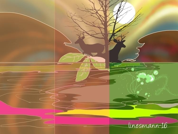 boredom - painting, digitalpainting - sunnyefemena | ello