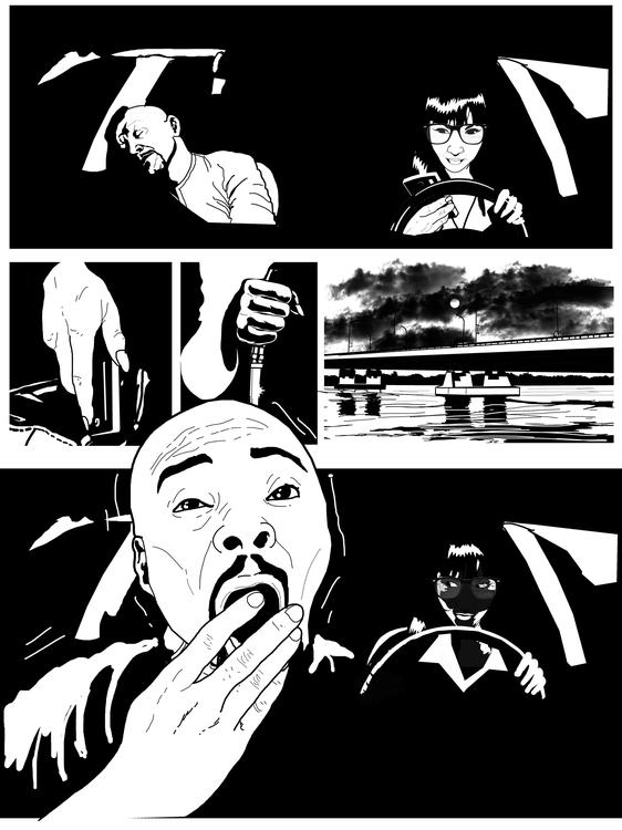 page 7 - blackandwhite, comic, comicbooks - sunnyefemena   ello