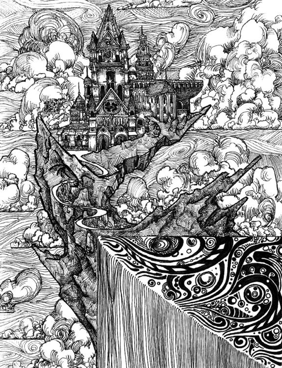 Corner - illustration, penandink - wyldtrees   ello