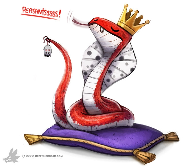 Daily Paint King Cobra (OA - 995. - piperthibodeau | ello