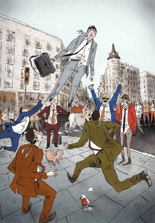 Levitation - illustration, characterdesign - scabotba | ello