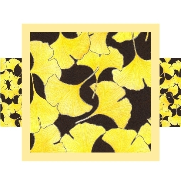 Elisa Viotto _ Ginkgo pattern - painting - elisaviotto | ello