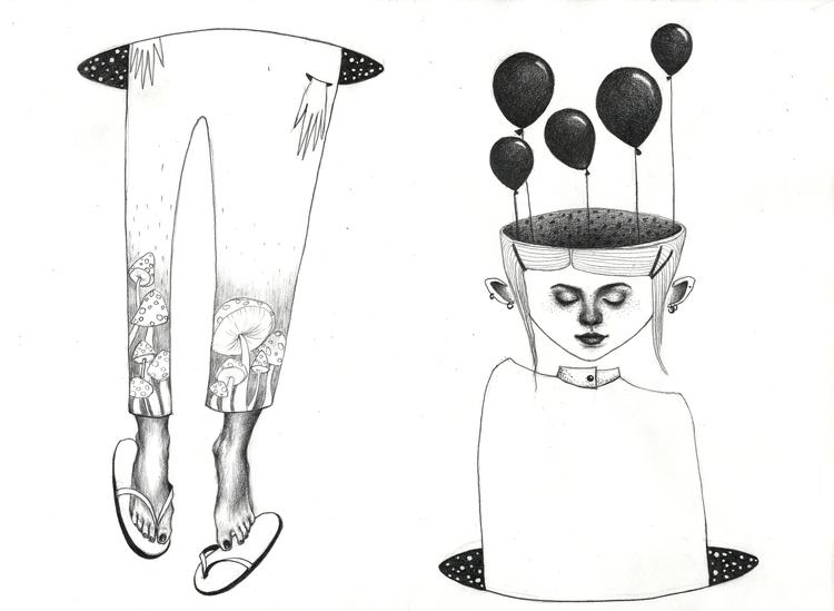 travel - portrait, girl, balloon - natasakonjevic   ello