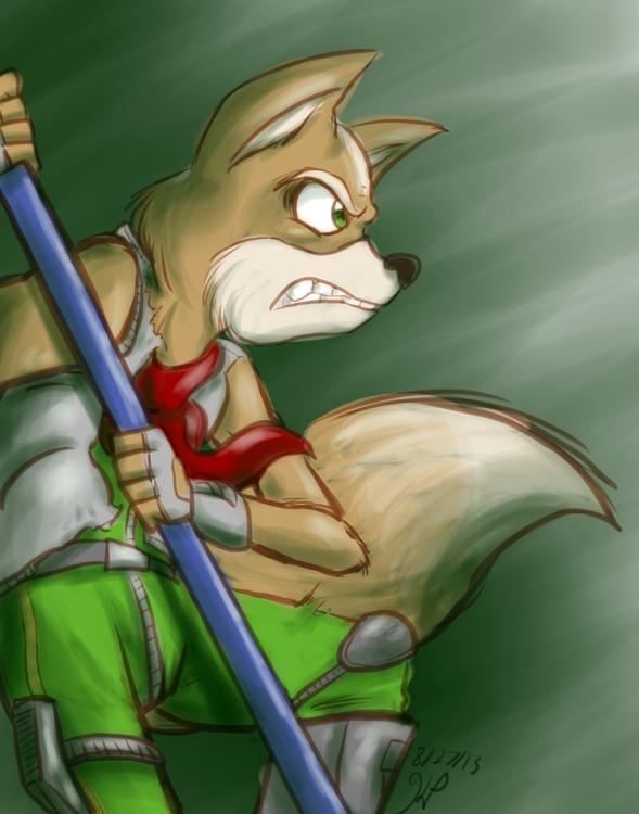Fox fight - illustration, starfox - kelsbugproductions | ello