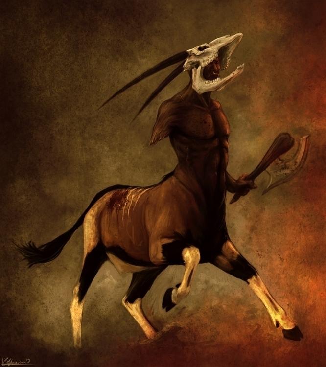 Sentyahu Oryx centaury characte - celestialartistry | ello