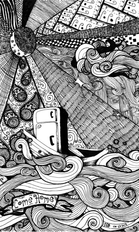Home - refridgerator, doodle, drawing - wyldtrees | ello