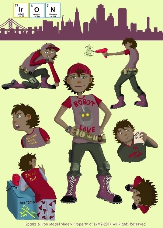 Iron Sparks - characterdesign, children'sillustration - staciearguello-clements   ello