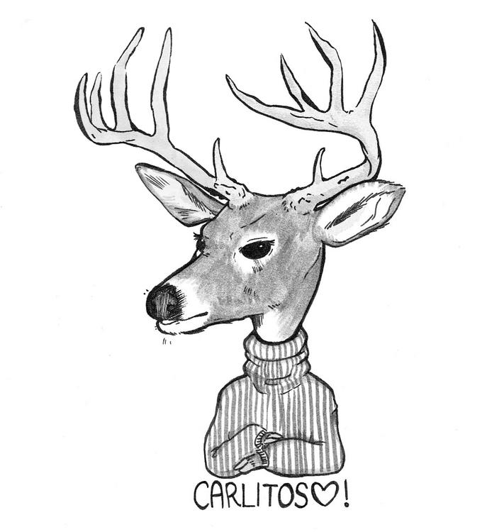 Carlitos - Stag - sketch, stag, deer - guemoza | ello