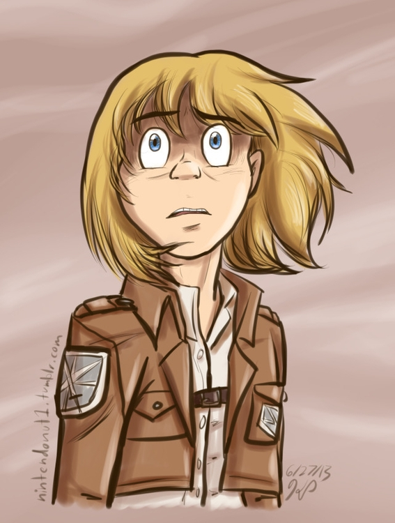 Armin - illustration, attackontitan - kelsbugproductions | ello
