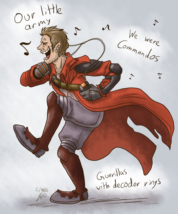 Starlord - illustration, guardiansofthegalaxy - kelsbugproductions | ello