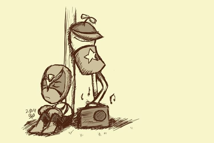 HS SB - illustration, homestarrunner - kelsbugproductions | ello
