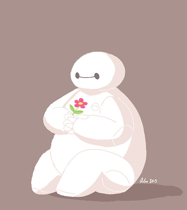 Baymax - baymax, bighero6, bh6, illustration - alexandrasketch | ello