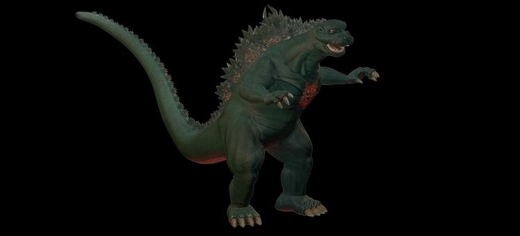Gojira - Godzilla, 3D, Retro, Kaiju - asc3nsion | ello