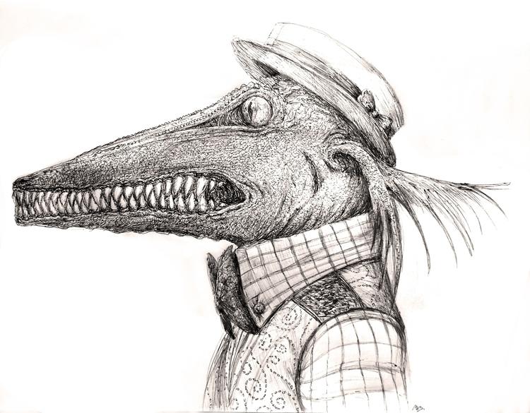 Nnats. Ballpoint pen drawing - characterdesign - viperxmns | ello