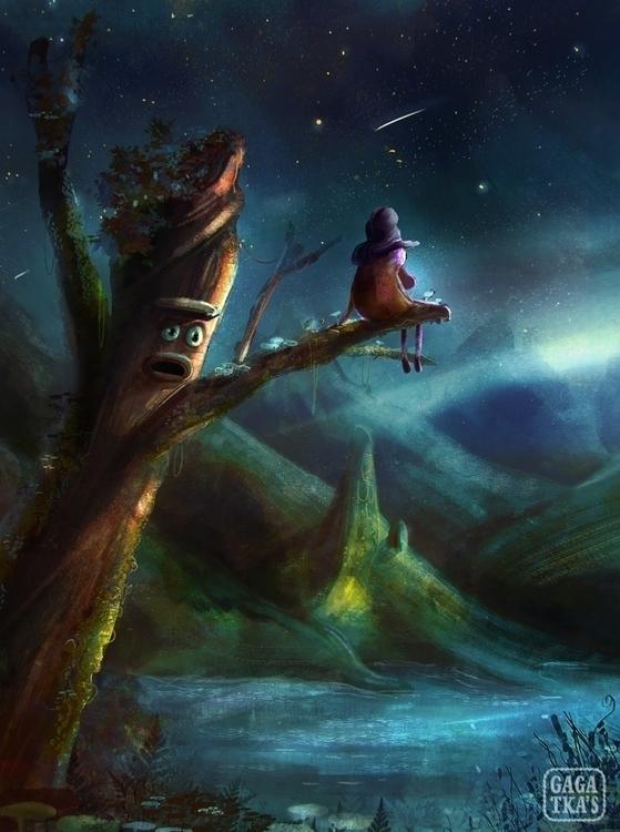 Gadabout. melancholy fall - children'sillustration - gagatka | ello