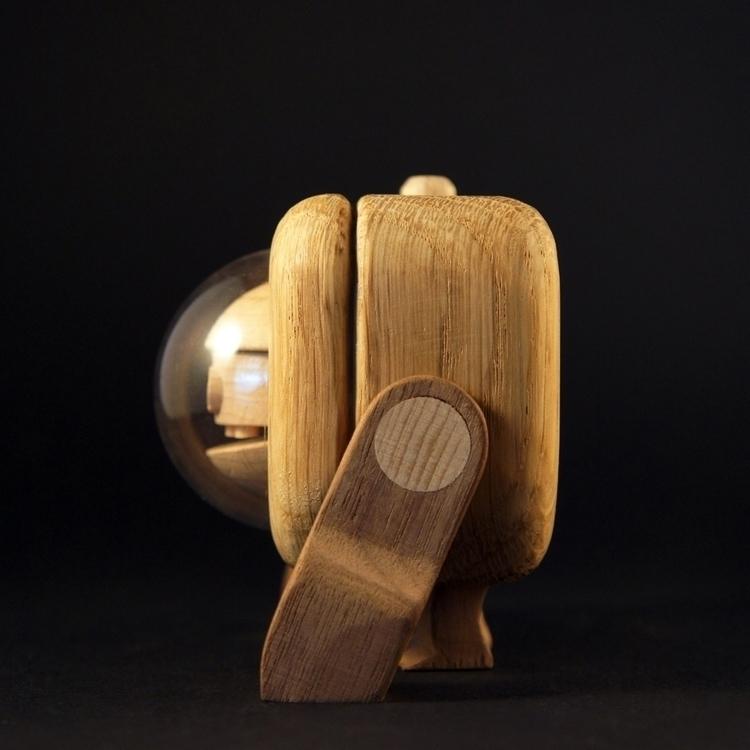 Oakie Handmade wooden toy - handmadediywoodwoodentoyrobotcharacterdesignfigures - louloutummie   ello