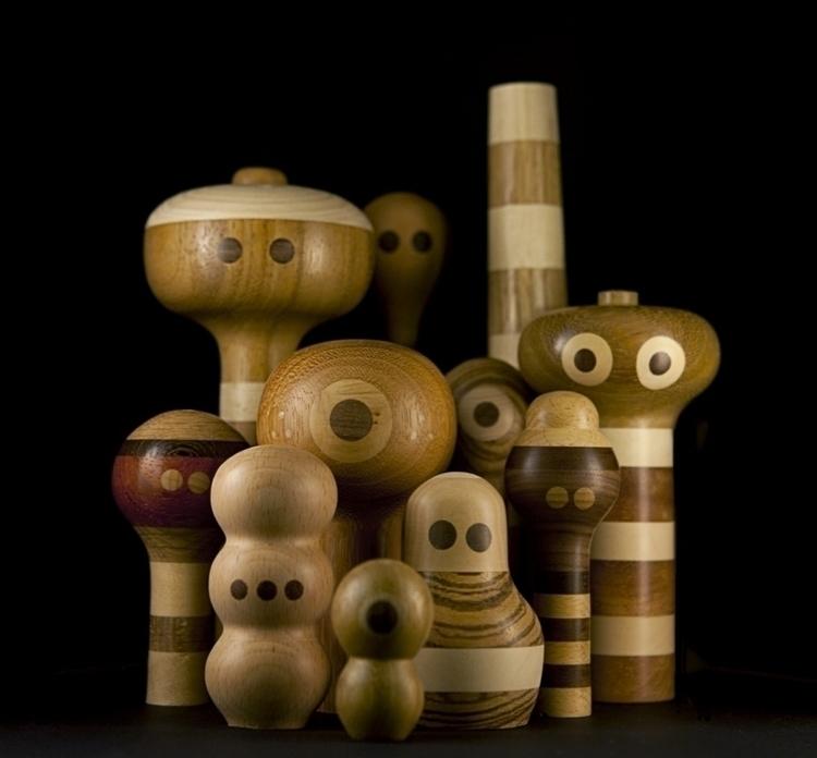 Kokeshi Handmade wooden toys - handmadediywoodwoodentoyrobotcharacterdesignfigureskokeshi - louloutummie   ello